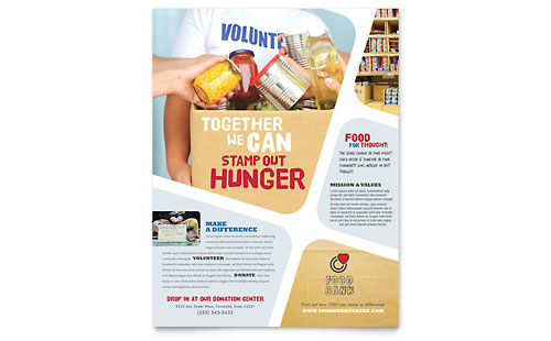 Food Bank Volunteer Flyer Template - Microsoft Office