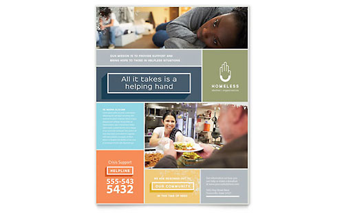 homeless housing flyer templates word publisher