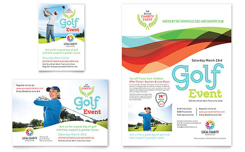 Charity Golf Event Flyer & Ad Template - Microsoft Office