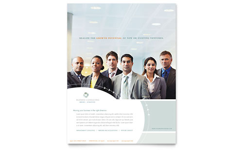 Business Consulting Flyer Template - Microsoft Office