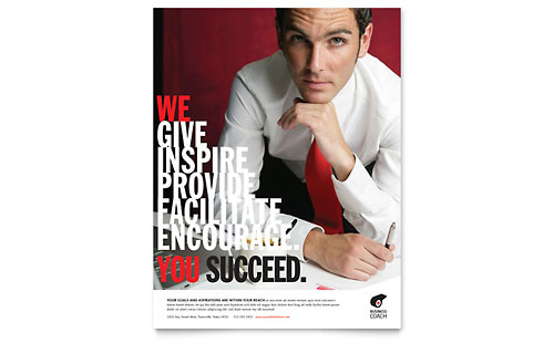 Business Executive Coach Flyer Template - Microsoft Office