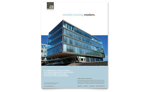 Architect Flyer Template Design