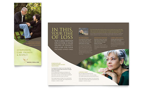Memorial & Funeral Program Brochure Template - Microsoft Office
