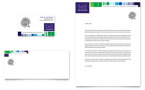 Business Leadership Conference Business Card & Letterhead Template - Microsoft Office