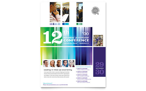 Business Leadership Conference Flyer Template - Microsoft Office