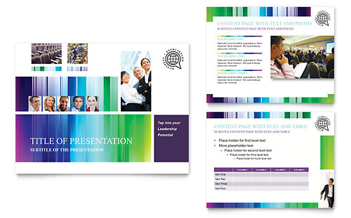 Business Leadership Conference PowerPoint Presentation Template - Microsoft Office