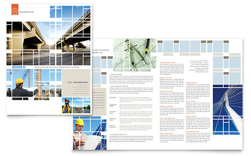 Civil Engineers Brochure Template - Microsoft Office