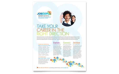 Job Expo & Career Fair Flyer Template - Microsoft Office