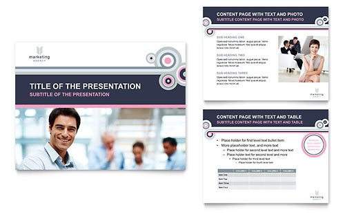 Marketing Agency PowerPoint Presentation Template - Microsoft Office