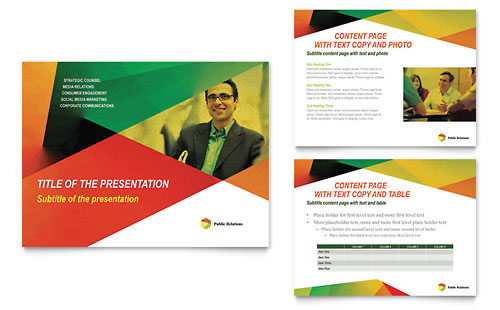Public Relations Company PowerPoint Presentation Template - Microsoft Office