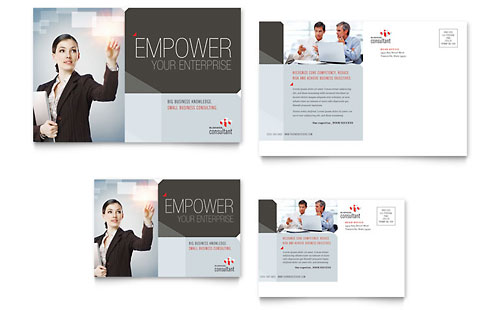 Corporate Business Postcard Template - Microsoft Office