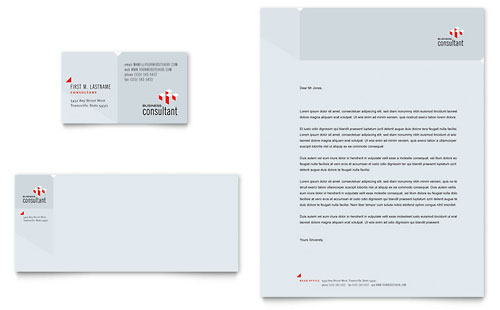 Corporate Business Business Card & Letterhead Template - Microsoft Office