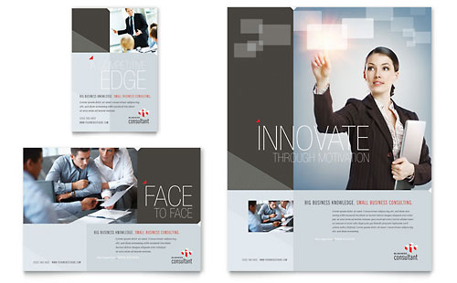 Corporate Business Flyer & Ad Template - Microsoft Office