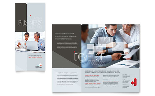 Corporate Business Tri Fold Brochure Template - Microsoft Office