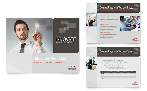 Corporate Business PowerPoint Presentation Template - Microsoft Office