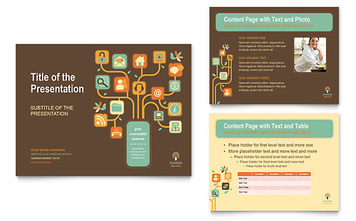 Business Services PowerPoint Presentation Template - Microsoft Office