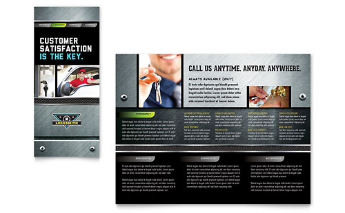 Locksmith Brochure Template - Microsoft Office