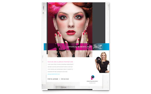 Photography Business Flyer Template - Microsoft Office