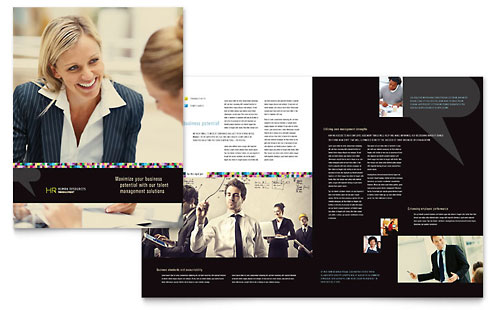 Human Resource Management Brochure Template - Microsoft Office