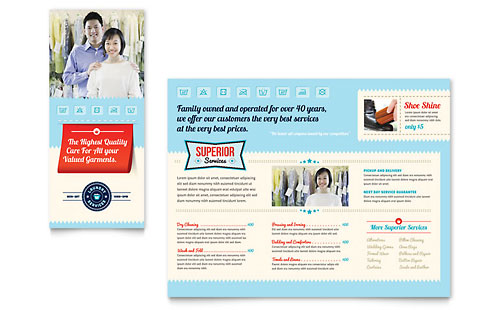 Laundry Services Brochure Template - Microsoft Office