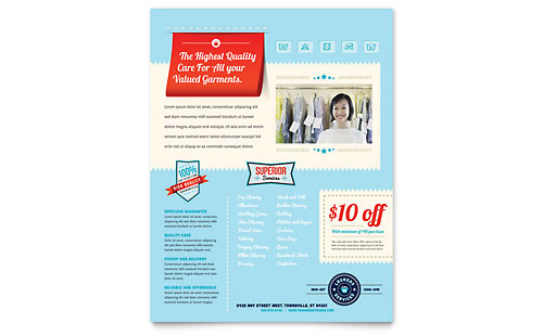 Laundry Services Flyer Template - Microsoft Office