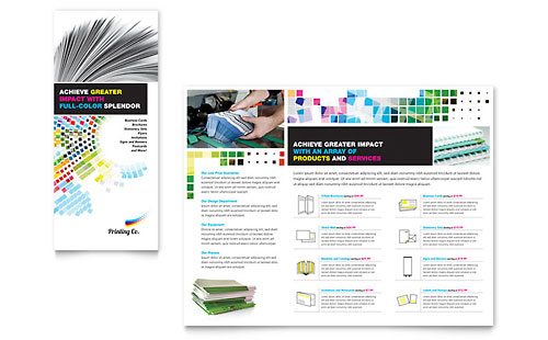 Printing Company Brochure Template - Microsoft Office