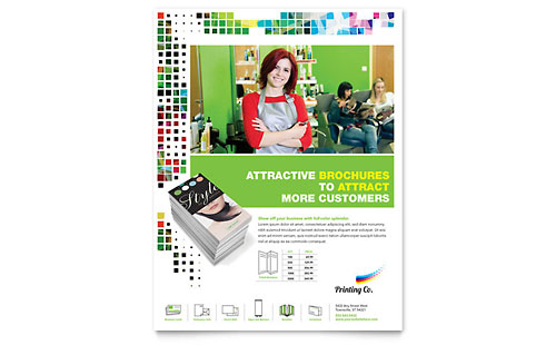 Printing Company Flyer Template - Microsoft Office