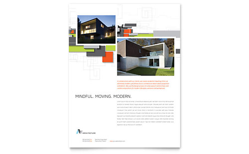 Architectural Design Flyer Template - Microsoft Office