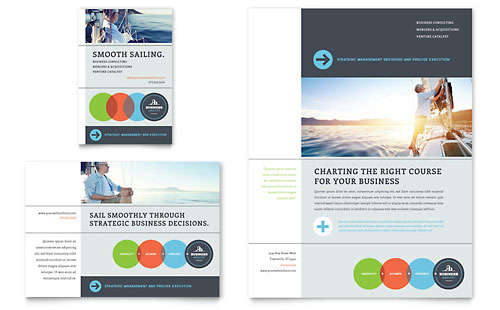 Business Analyst Flyer & Ad Template - Microsoft Office