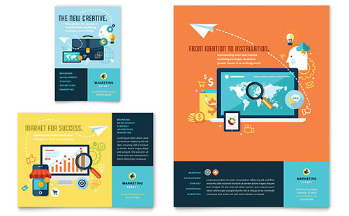 Advertising Company Flyer & Ad Template - Microsoft Office