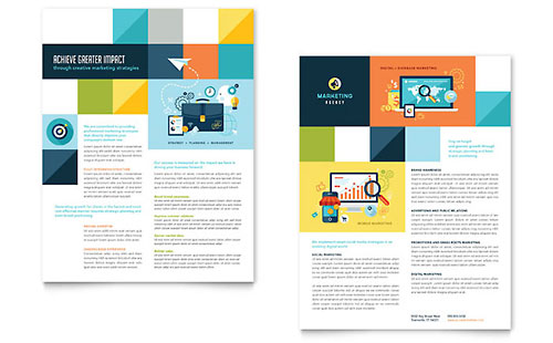 Advertising Company Datasheet Template - Microsoft Office