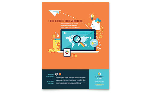 Advertising Company Flyer Template - Microsoft Office