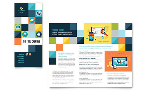 Advertising Company Tri Fold Brochure Template - Microsoft Office
