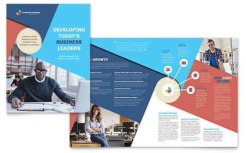 Corporate Strategy Brochure Template - Microsoft Office