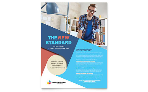 Corporate Strategy Flyer Template Design