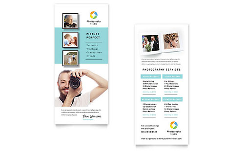 Photographer Rack Card Template - Word & Publisher