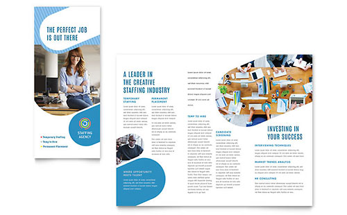 Employment Agency Tri Fold Brochure Template - Microsoft Office