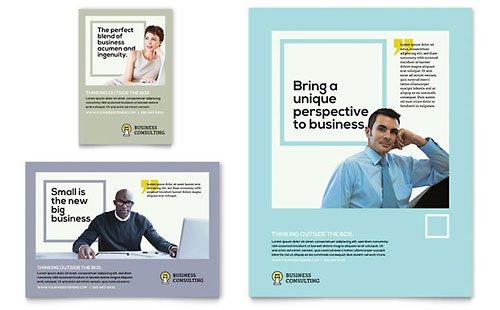 Business Consultants Flyer & Ad Template - Microsoft Office