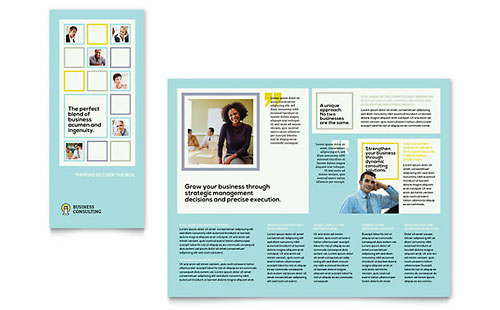 Business Consultants Tri Fold Brochure Template - Microsoft Office