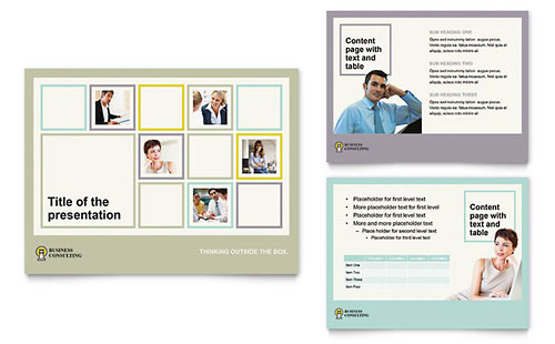 Business Consultants PowerPoint Presentation Template - Microsoft Office