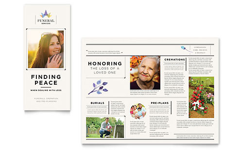 Funeral Services Brochure Template - Microsoft Office