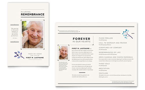 Funeral Services Newsletter Template - Word & Publisher