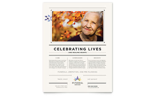 Funeral Services Flyer Template - Microsoft Office