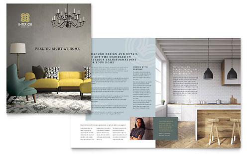 Interior Design Brochure Template - Microsoft Word
