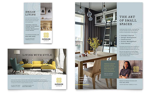 Interior Design Flyer & Ad Template Design