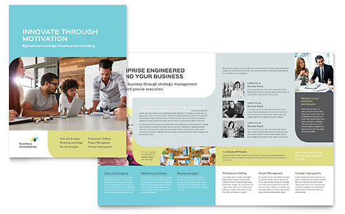 HalfFold BiFold Brochure Templates Word Publisher Templates - Single fold brochure template