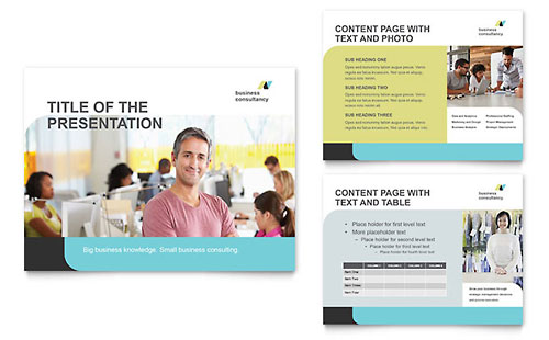 Small Business Consultant PowerPoint Presentation Template - Microsoft Office