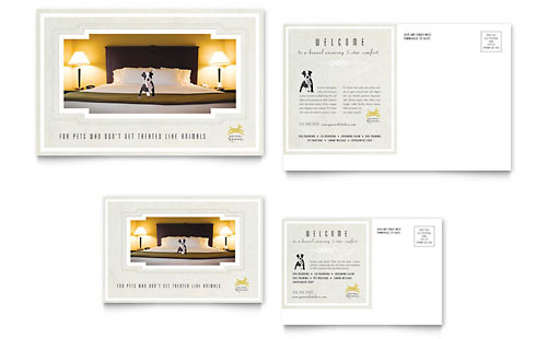 Pet Hotel & Spa Postcard Template - Microsoft Office
