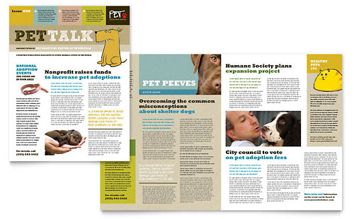 Animal Shelter & Pet Adoption Newsletter Template - Microsoft Office
