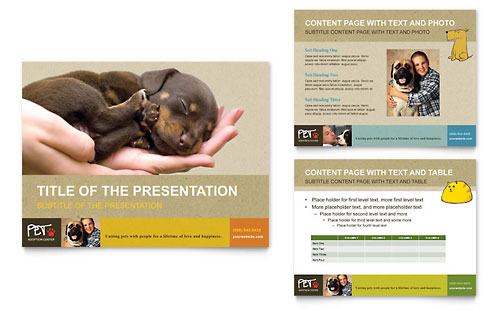 Animal Shelter & Pet Adoption PowerPoint Presentation Template - Microsoft Office